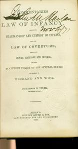 John Marshall Harlan's opy of the Law of Infancy