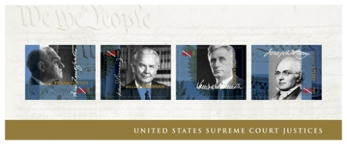 Picture of Supreme Court justice stamps.