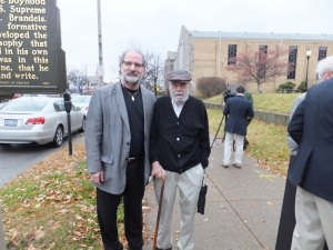 Rabbi Joe Rooks-Rapport and Charles Tachau