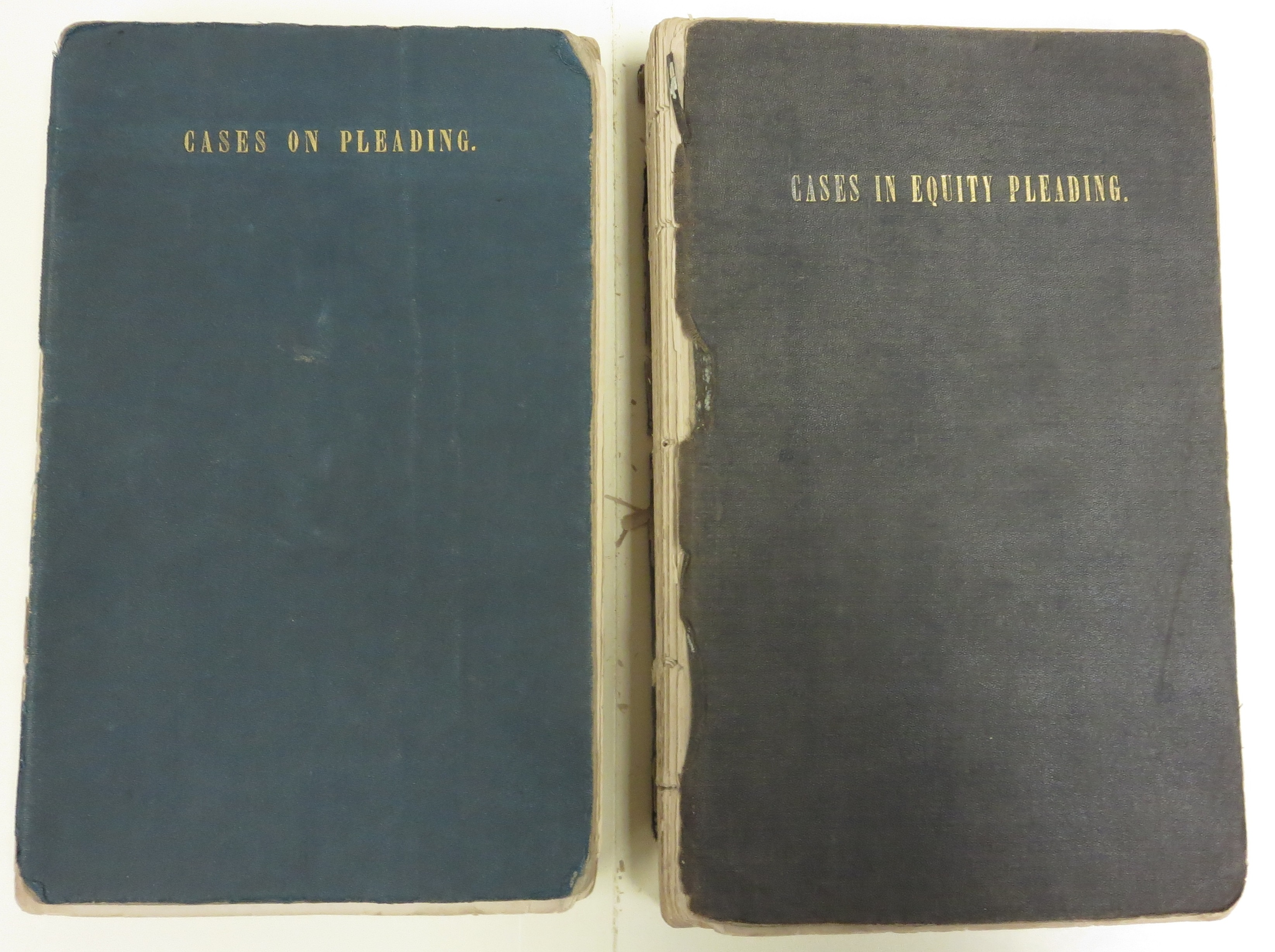 The covers of Cases on Pleading and Cases in Equity Pleading.